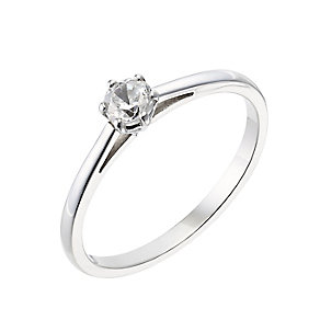18ct white gold 0.25ct diamond G-H SI1 ring - Product number 2508095