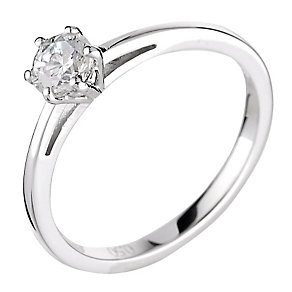 18ct white gold 0.50ct diamond G-H SI1 solitaire ring - Product number 2508958