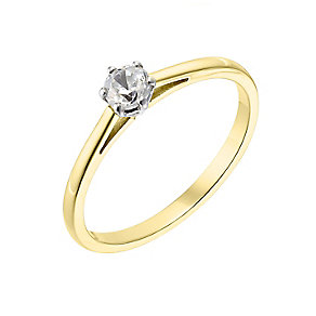 18ct yellow gold 0.25ct diamond G-H SI1 ring - Product number 2509342