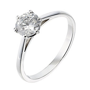 18ct platinum one carat diamond G-H SI1 solitaire ring - Product number 2510804