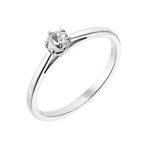 18ct white gold 0.25ct diamond F-G VS2 ring - Product number 2510944