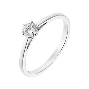 18ct white gold 0.33ct diamond F-G VS2 solitaire ring - Product number 2511061
