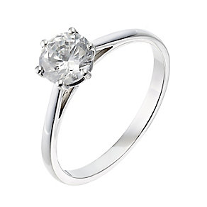 18ct white gold one carat diamond F-G VS2 solitaire ring - Product number 2511606