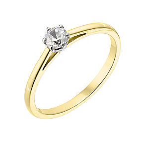 18ct yellow gold 0.25ct diamond F-G VS2 ring - Product number 2511746