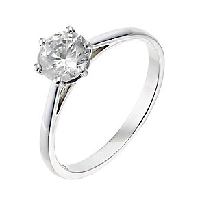 Platinum one carat diamond F-G VS2 solitaire ring - Product number 2513226