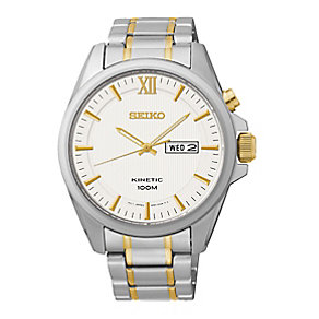 Seiko Core Kinetic men's two colour bracelet watch - Product number 2513366