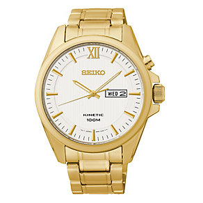 Seiko Core Kinetic men's gold-plated bracelet watch - Product number 2513374