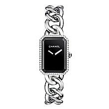 Chanel Premiere ladies' black dial stone set bracelet watch - Product number 2513692
