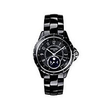 Chanel Ladies' Black Ceramic Bracelet Watch - Product number 2513714