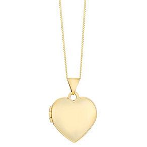 9ct yellow gold heart locket - Product number 2514028