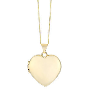 9ct yellow gold heart 18mm locket - Product number 2514079