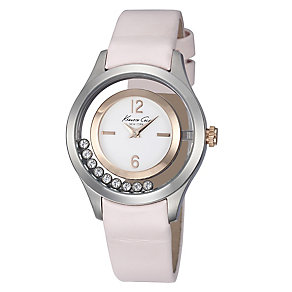 Kenneth Cole Ladies' Loose Stone Rose and Pink Strap Watch - Product number 2515393