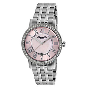 Kenneth Cole Ladies' Stainless Steel & Mother of Pearl Watch - Product number 2515903