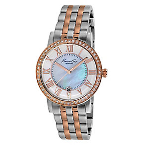 Kenneth Cole Ladies' Two Tone Mother of Pearl Watch - Product number 2516055