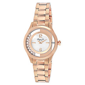 Kenneth Cole Ladies' Rose Gold Tone Loose Stones Watch - Product number 2516705