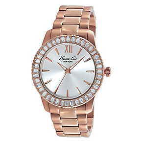 Kenneth Cole Ladies' Stone Set Rose Gold Tone Watch - Product number 2516853