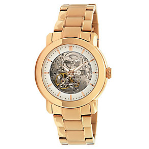 Kenneth Cole Ladies' Yellow Gold Plated Skeleton Watch - Product number 2517035
