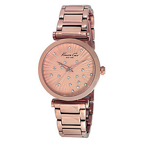 Kenneth Cole Ladies' Rose Gold Tone Crystal Watch - Product number 2518554