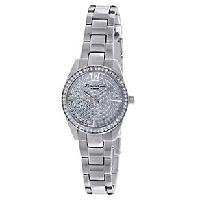 Kenneth Cole Ladies' Stainless Steel Pave Stone Set Watch - Product number 2518643