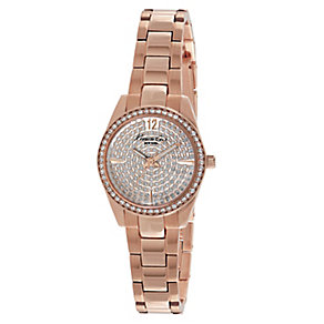 Kenneth Cole Ladies' Rose Gold Tone Pave Stone Set Watch - Product number 2518678
