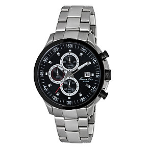 Kenneth Cole Men's Black Bezel Bracelet Watch - Product number 2519577