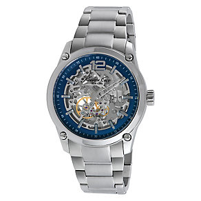 Kenneth Cole Men's Blue Skeleton Dial Bracelet Watch - Product number 2519712