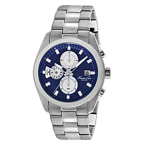 Kenneth Cole Men's Blue Chronograph Dial Bracelet Watch - Product number 2519887