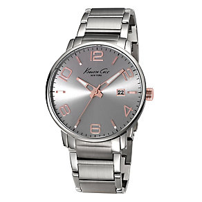 Kenneth Cole Men's Grey Dial Stainless Steel Bracelet Watch - Product number 2520044