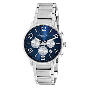 Kenneth Cole Men's Blue Dial Stainless Steel Watch - Product number 2520060