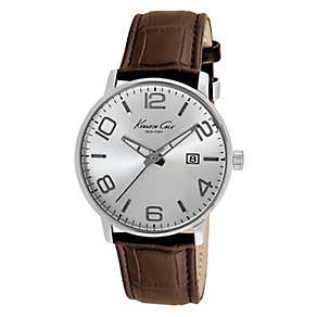 Kenneth Cole Men's Brown Leather Strap Watch - Product number 2520893