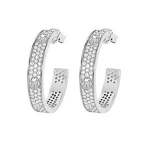 Tresor Paris sterling silver crystal logo stud earrings - Product number 2537192