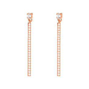 Tresor Paris rose gold-plated crystal 37mm drop earrings - Product number 2537265