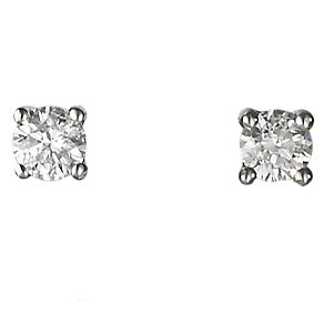 18ct white gold quarter carat diamond H-I P1 earrings - Product number 2541637