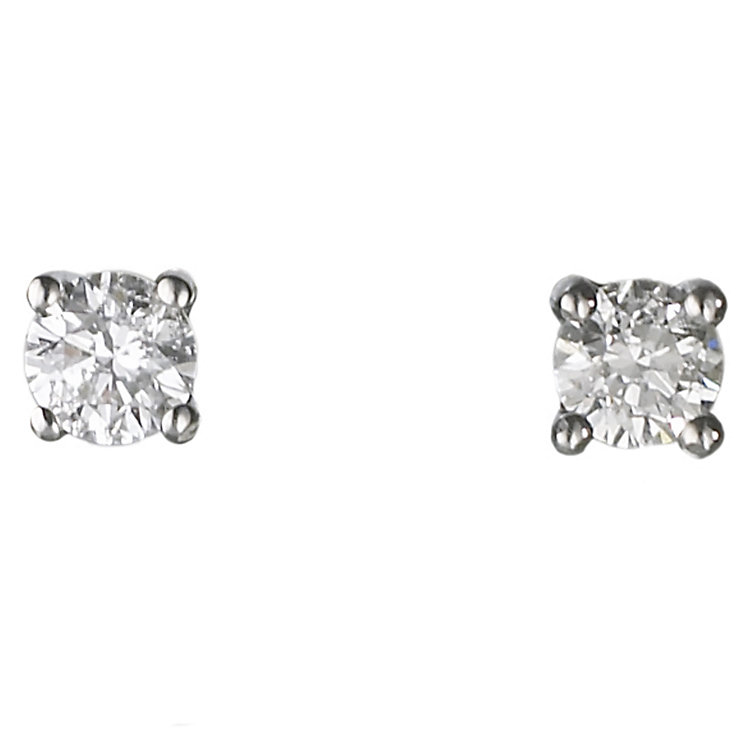 18ct white gold 0.25ct diamond H-I SI2  earrings - Product number 2541645