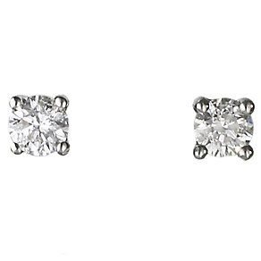 18ct white gold quarter carat diamond H-I SI2  earrings - Product number 2541645
