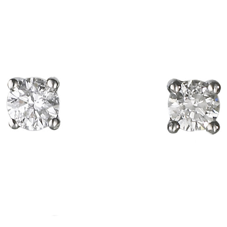 18ct white gold 0.25ct diamond G-H  SI1 earrings - Product number 2541653