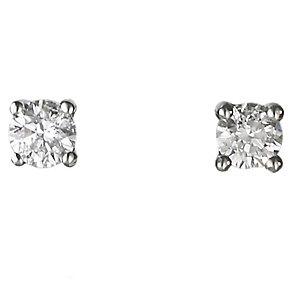 18ct white gold quarter carat diamond G-H  SI1 earrings - Product number 2541653
