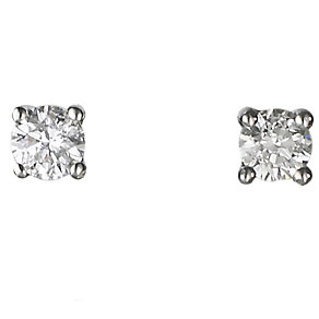 18ct white gold quarter carat diamond F-G  VS2 earrings - Product number 2541661
