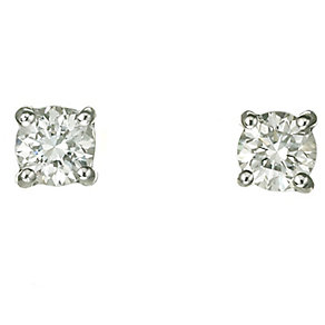 18ct white gold 40 point diamond H-I P1 earrings - Product number 2541688