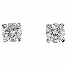 18ct white gold 0.50ct diamond G-H SI1 earrings - Product number 2541750