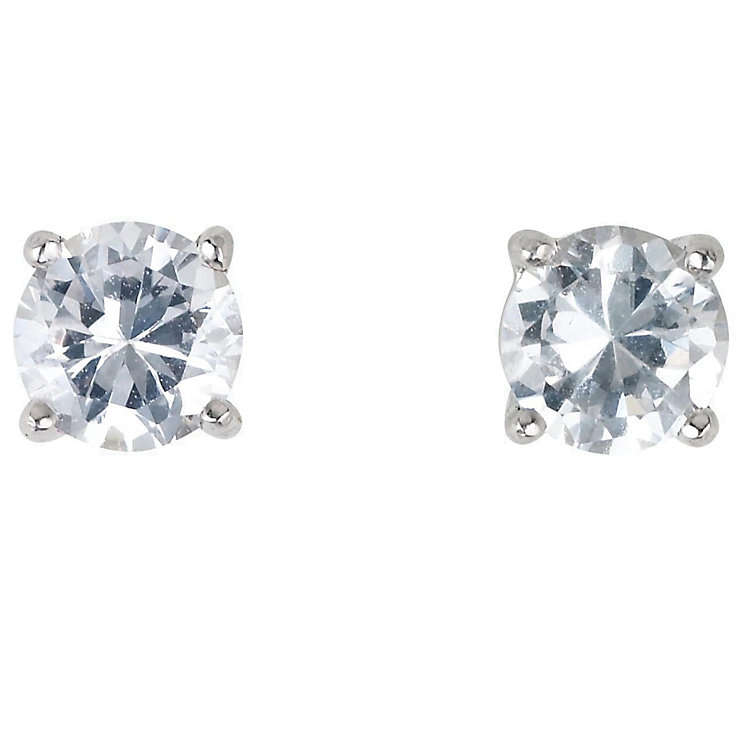 18ct white gold 2/3 of a carat diamond H-I P1 stud earrings - Product number 2541777