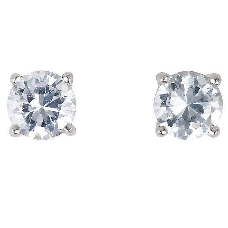 18ct white gold 2/3 of a carat diamond H-I SI2 stud earrings - Product number 2541785