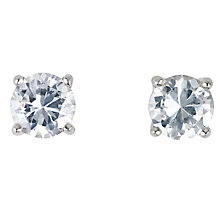 18ct white gold 2/3 of a carat diamond G-H SI1 stud earrings - Product number 2541793