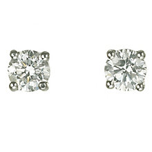 18ct white gold 3/4 carat diamond H-I P1 stud earrings - Product number 2541807