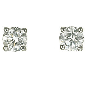 18ct white gold 3/4 carat diamond G-H SI1 stud earrings - Product number 2541823