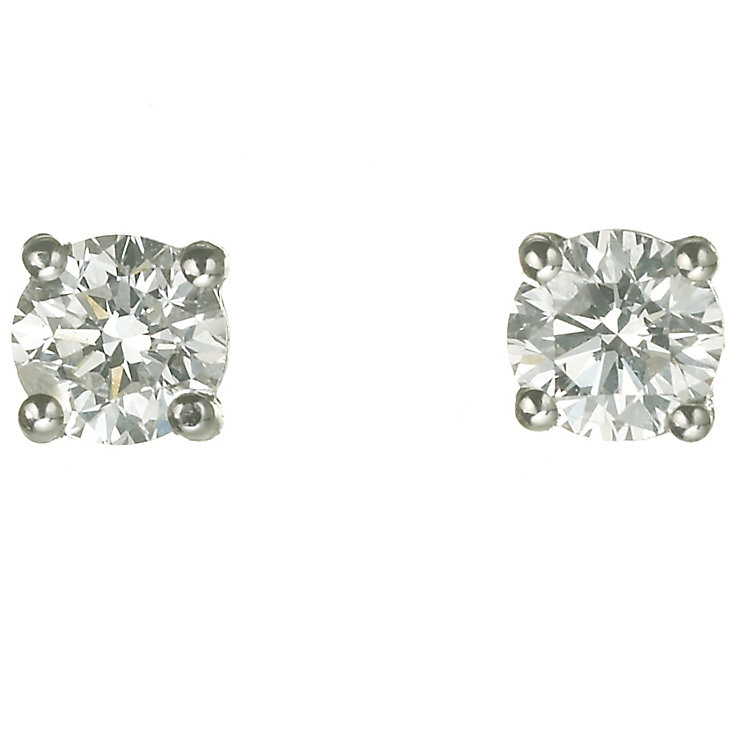 18ct white gold 3/4 carat diamond F-G VS2 stud earrings - Product number 2541831