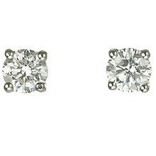18ct white gold 3/4 carat diamond F-G VS2 stud earrings - Product number 2541831