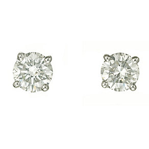 18ct white gold one carat diamond H-I P1 stud earrings - Product number 2541858