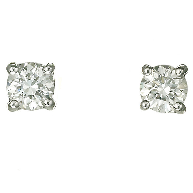 Platinum 40 point diamond G-H SI1 stud earrings - Product number 2541904