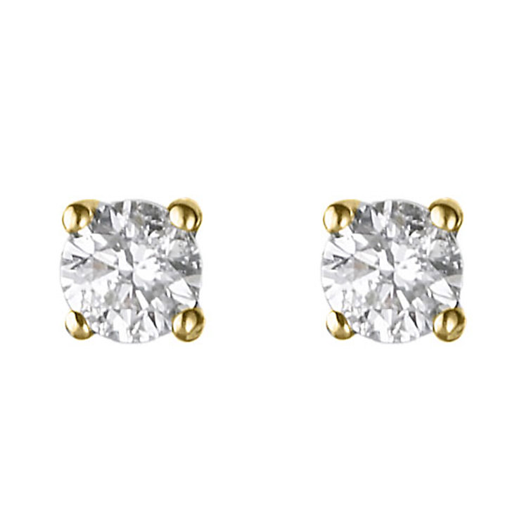18ct yellow gold 1/4 carat diamond H-1 P1 earrings - Product number 2541912